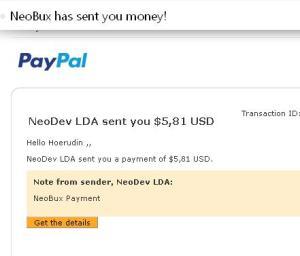 Payout Neobux